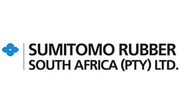 The logo for Sumitomo Rubber with the subtext 'South Africa (PTY) LTD.' in black