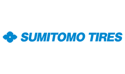 The logo for Sumitomo Tyres in blue